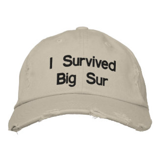 I survived big sur embroidered hats
