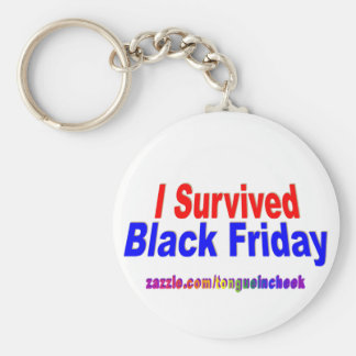 I Survived Black Friday! Basic Round Button Key Ring