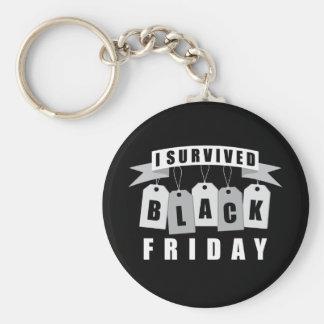 I Survived Black Friday Basic Round Button Key Ring