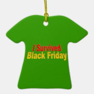 I Survived Black Friday Ceramic T-Shirt Decoration