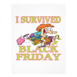 I SURVIVED BLACK FRIDAY FUNNY CARTOON PERSONALISED FLYER