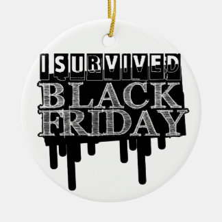 I Survived Black Friday Keepsake Ornament