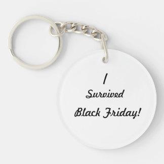 I survived Black Friday! Single-Sided Round Acrylic Keychain
