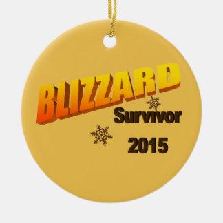 I Survived Blizzard 2015 Ornament