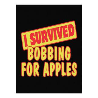 I SURVIVED BOBBING FOR APPLES CUSTOM INVITATIONS
