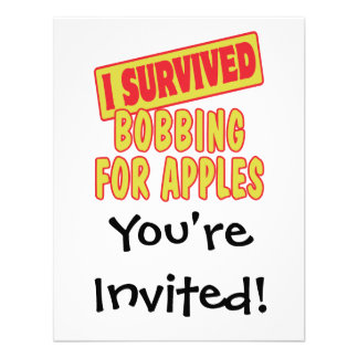 I SURVIVED BOBBING FOR APPLES CUSTOM ANNOUNCEMENTS