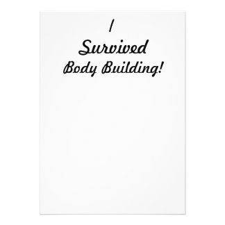I survived body building personalized invitations