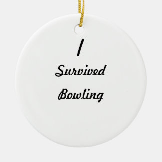 I survived bowling ornament