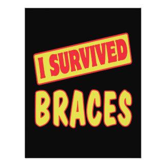 I SURVIVED BRACES FLYER DESIGN