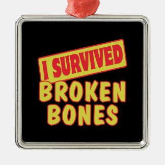 I SURVIVED BROKEN BONES CHRISTMAS ORNAMENT