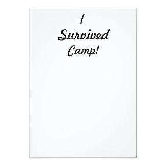 I survived camp! 13 cm x 18 cm invitation card