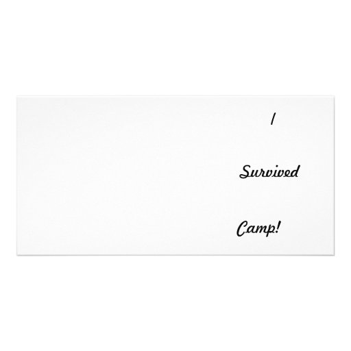 I survived camp! personalized photo card
