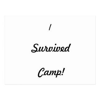 I survived camp! postcard
