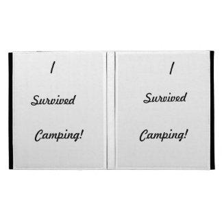 I survived camping iPad folio case