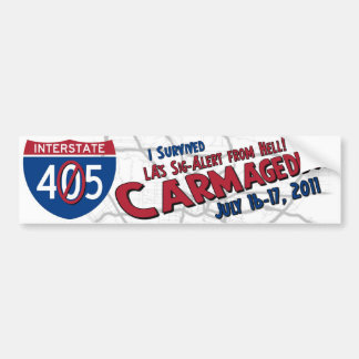 I Survived Carmageddon - 405 Closure Bumper Sticker