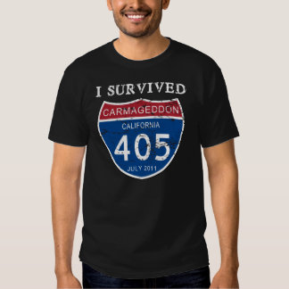 I Survived Carmageddon Worn 3 T Shirt