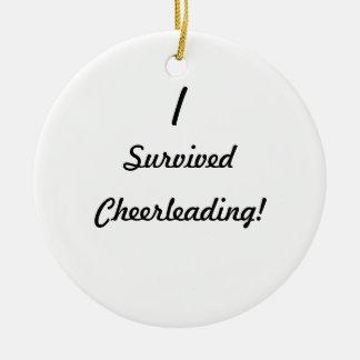 I survived Cheerleading! Round Ceramic Decoration