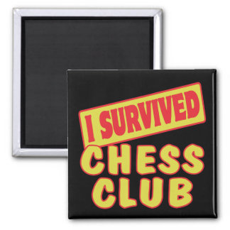 I SURVIVED CHESS CLUB REFRIGERATOR MAGNET