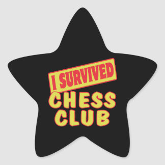 I SURVIVED CHESS CLUB STAR STICKER