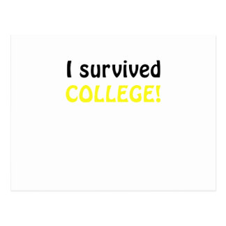 I Survived College Post Card
