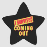 I SURVIVED COMING OUT STAR STICKERS