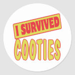 I SURVIVED COOTIES STICKERS