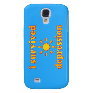 I Survived Depression Mental Health Happiness Samsung Galaxy S4 Cases