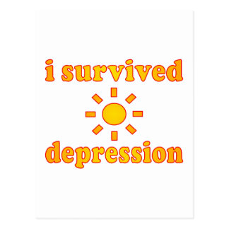 I Survived Depression Mental Health Happiness Postcard