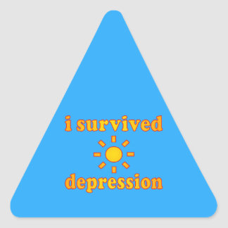 I Survived Depression Mental Health Happiness Triangle Sticker