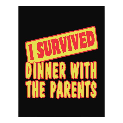 I SURVIVED DINNER WITH THE PARENTS CUSTOM FLYER