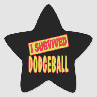 I SURVIVED DODGEBALL STAR STICKER