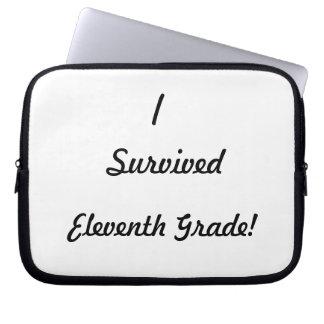 I survived Eleventh Grade Laptop Sleeve