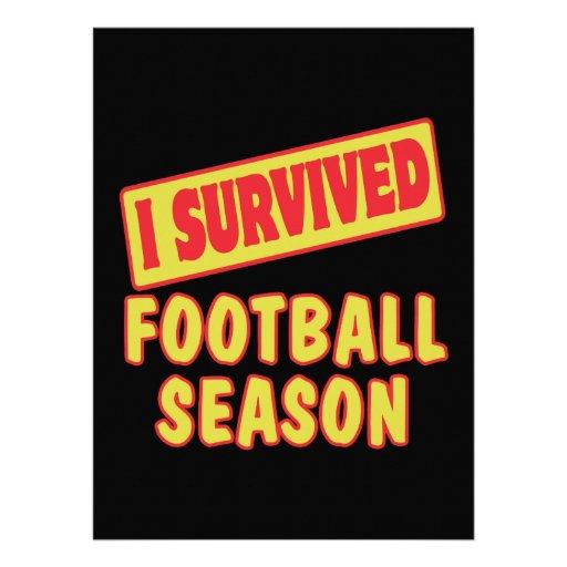 I SURVIVED FOOTBALL SEASON CUSTOM INVITE