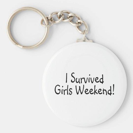I Survived Girls Weekend Basic Round Button Key Ring