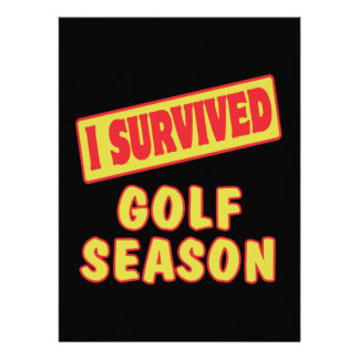 I SURVIVED GOLF SEASON PERSONALIZED ANNOUNCEMENTS
