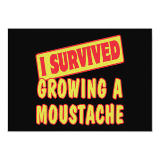 I SURVIVED GROWING A MOUSTACHE PERSONALIZED INVITES