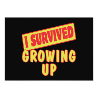 I SURVIVED GROWING UP PERSONALIZED INVITE