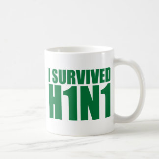 I SURVIVED H1N1 in green Mugs