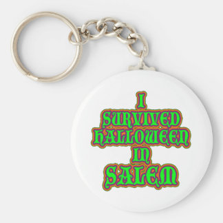 I Survived Halloween in Salem Basic Round Button Key Ring