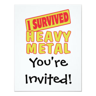 I SURVIVED HEAVY METAL 11 CM X 14 CM INVITATION CARD