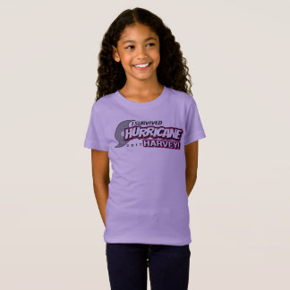I Survived Hurricane Harvey 2017 Girls T-Shirt