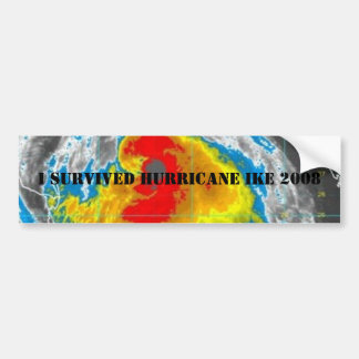 I SURVIVED HURRICANE IKE 2008 BUMPER STICKERS