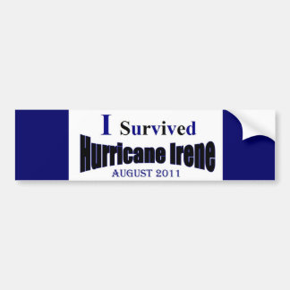 I Survived Hurricane Irene Bumper Sticker