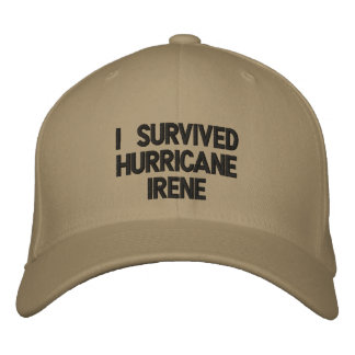 I Survived Hurricane Irene Hat Embroidered Hat