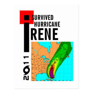 I Survived Hurricane Irene Postcard