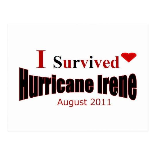 I Survived Hurricane Irene Postcard