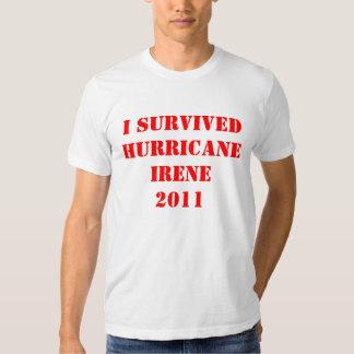 I SURVIVED HURRICANE IRENE TEE SHIRT