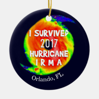 I SURVIVED HURRICANE IRMA at Your Location Christmas Ornament