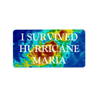 I SURVIVED HURRICANE MARIA LABEL