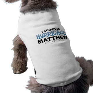 I Survived Hurricane Matthew October 2016 Sleeveless Dog Shirt